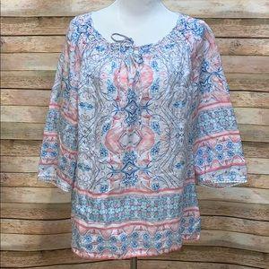 Charter Club linen blouse